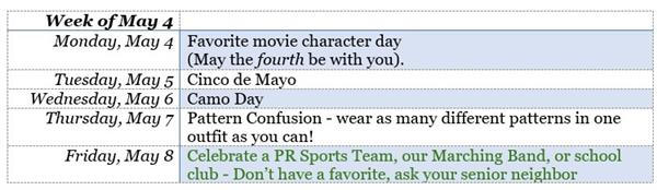 Spirit Week May 4