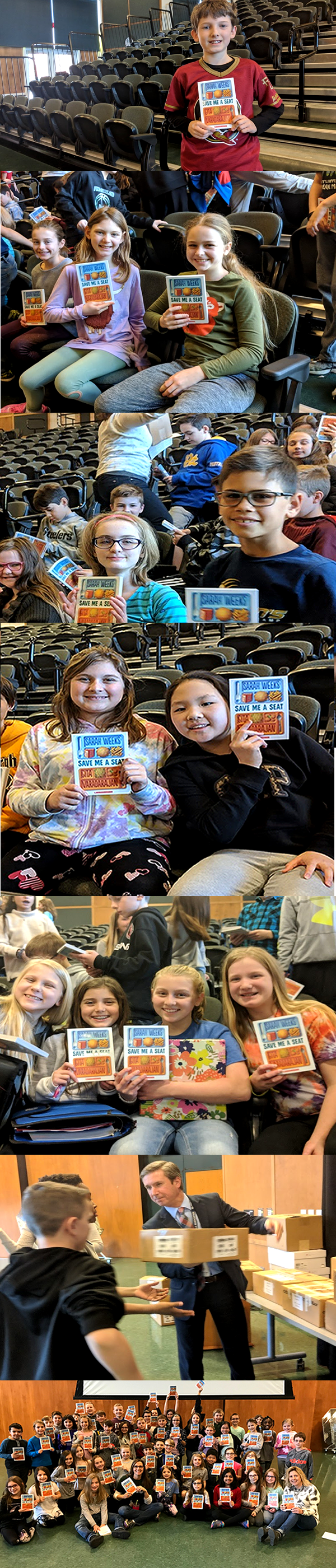 Reading Program: Students with Books
