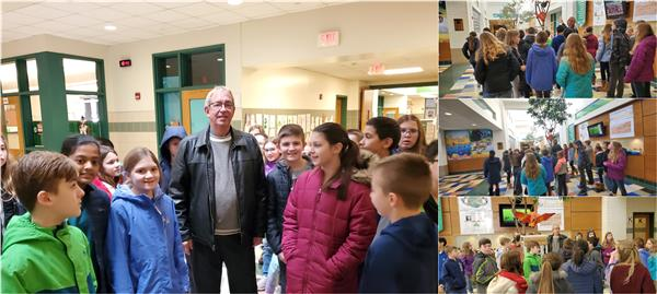 Principal gives tours of building