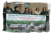 Teachers Participate in Groundbreaking Ceremony