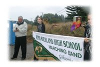 Marching Band & Community Participate in Groundbreaking