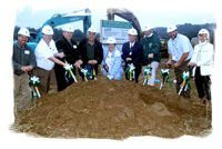 Board Members Break Ground