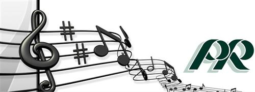Musical Notes and PR Logo