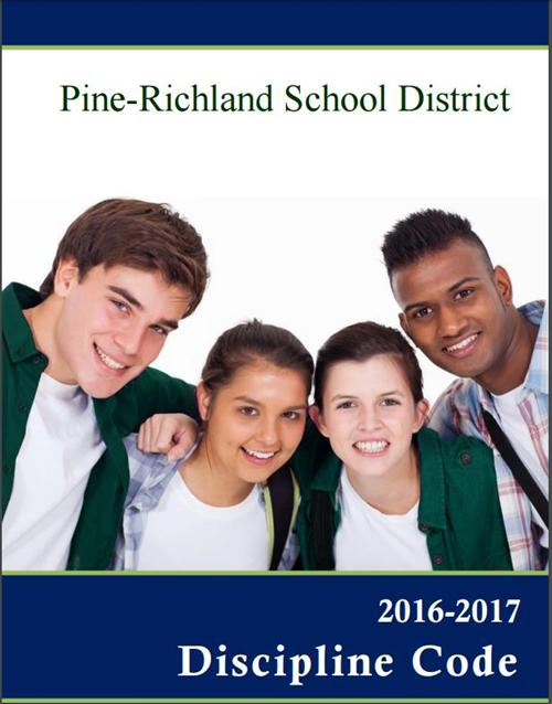 Discipline Code Cover for 16-17