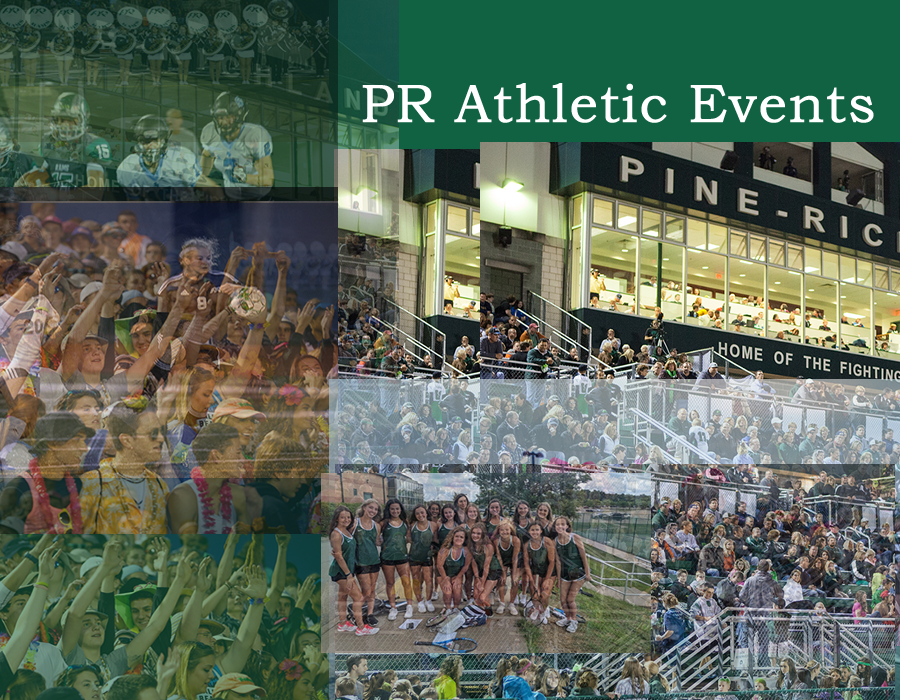 Collage of fans, athletes