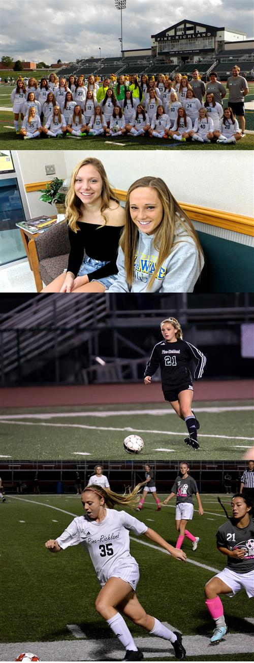 Collage of soccer photos